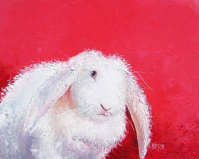Bunny Painting 'lucinda' By Jan Matson Art Print