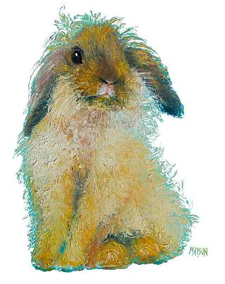 Cafe Painting - Bunny Rabbit Painting by Jan Matson