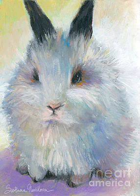 Rabbit Drawing - Bunny Rabbit Painting by Svetlana Novikova