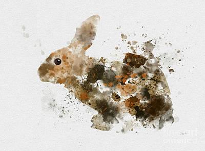 Rabbit Mixed Media - Bunny Rabbit by Rebecca Jenkins