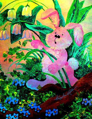 Bunny Surprise Art Print