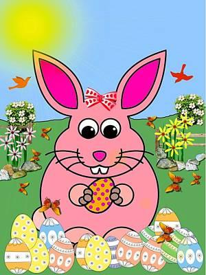 Twitter Digital Art - Bunny Twitter by Madeline  Allen - SmudgeArt
