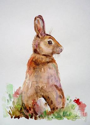 Painting - Bunny by Zaira Dzhaubaeva