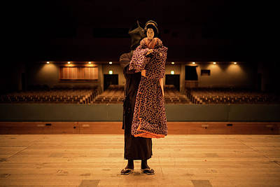 Photograph - Bunraku Puppeteer by Lucas Dragone