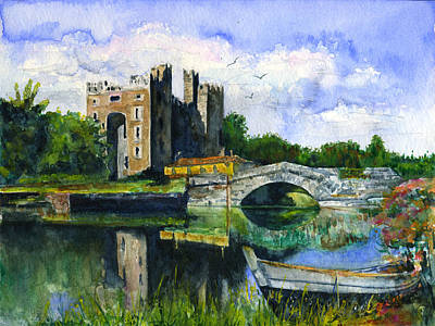 Painting - Bunratty Castle by John D Benson