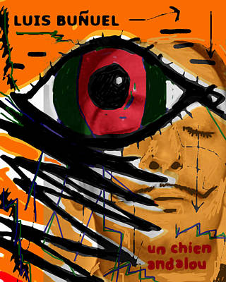 Political Painting - Bunuel Chien Andalou Poster  by Paul Sutcliffe