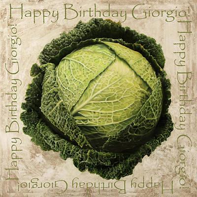 Buon Compleanno Giorgio Original by Guido Borelli
