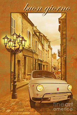 Historic Vehicle Mixed Media - Buongiorno by Monika Juengling
