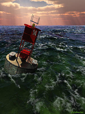 Buoy 14 Art Print by Williem McWhorter