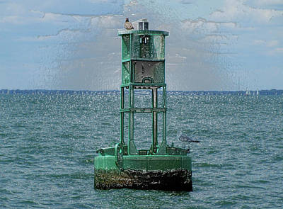 Photograph - Buoy 21- II by Michiale Schneider