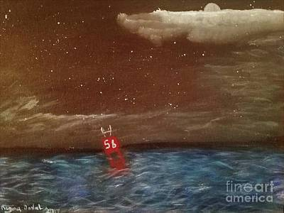 Blue Bouys Painting - Buoy 56 by Regina Combs