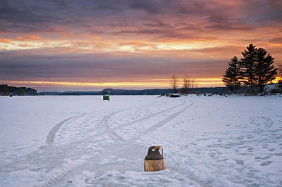 Photograph - Buoy And Ice Shack by Darylann Leonard Photography