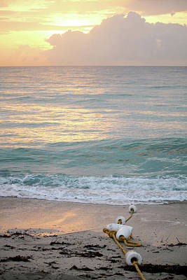 Photograph - Buoy String On South Beach Miami by Art Block Collections
