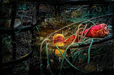 Photograph - Marker Buoys And Crab Rings by Thom Zehrfeld