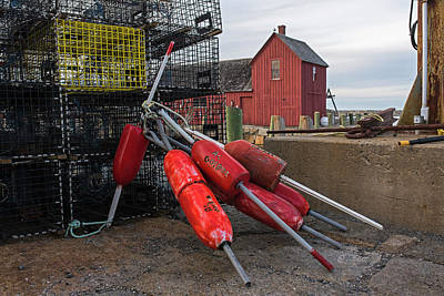 Photograph - Buoys And Lobster Traps Motif #1 Rockport Ma by Toby McGuire