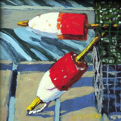 Painting - Buoys And Traps by Bill Tomsa