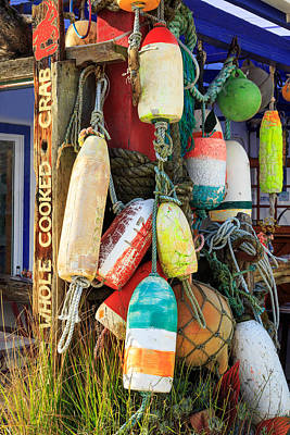 Photograph - Buoys At The Crab Shack by James Eddy