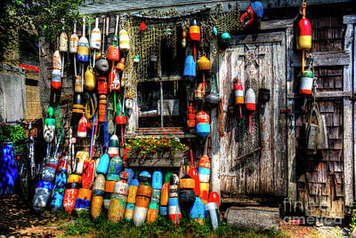 Photograph - Buoys, Buoys, Buoys Of Rockport by Jean Hutchison