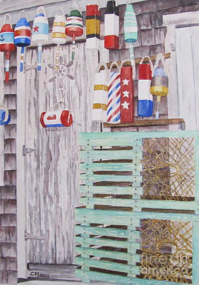 Painting - Rockport Buoys by Carol Flagg