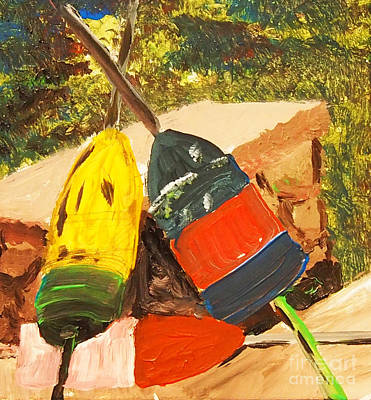 Painting - Buoys by Francois Lamothe