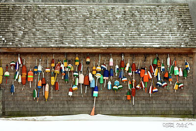 Photograph - Buoys by Mark Alesse