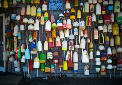 Buoys, Martha's Vineyard Art Print