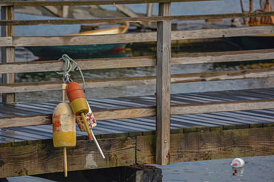 Photograph - Buoys On The Docks by Jesse MacDonald