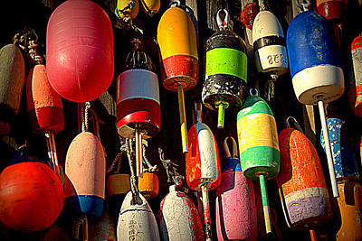 Photograph - Buoys by Suzanne DeGeorge