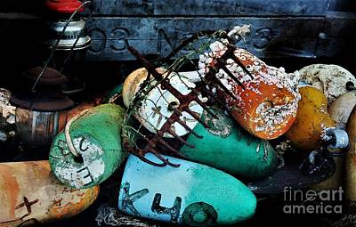 Photograph - Buoys Watercolor by Paulette Thomas