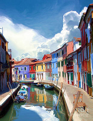 Impressionist Photograph - Burano Canal by Tom Griffithe