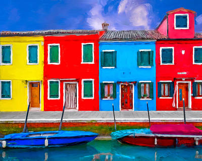 Art Print featuring the photograph Burano Colorful Houses by Juan Carlos Ferro Duque