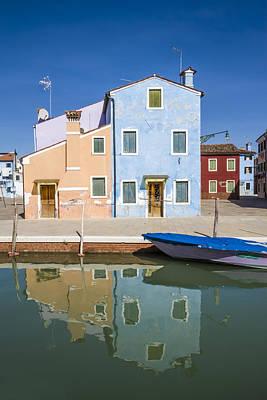 Green Houses Photograph - Burano Colorful Italian Buildings by Melanie Viola