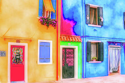 Digital Art - Burano Colorful by Yury Malkov