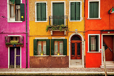Door Photograph - Burano Colors by Andrew Soundarajan
