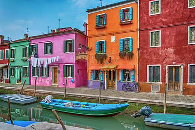Photograph - Burano Colors Venice_dsc5085_03032017 by Greg Kluempers