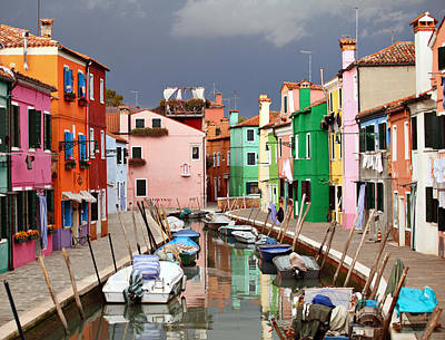 Burano Colours Art Print