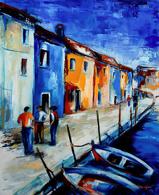 Conversation Painting - Burano Conversation by Elise Palmigiani