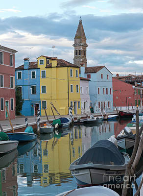 Photograph - Burano Italian Reflection by Loriannah Hespe