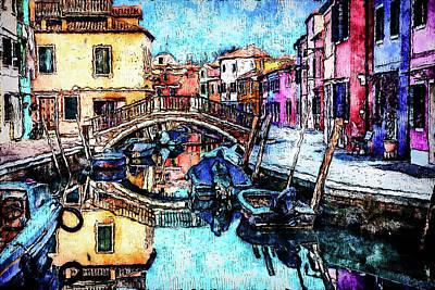Painting - Burano, Italy - 01 by Andrea Mazzocchetti
