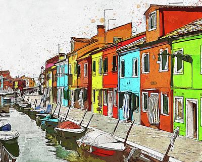 Painting - Burano, Italy - 02 by Andrea Mazzocchetti