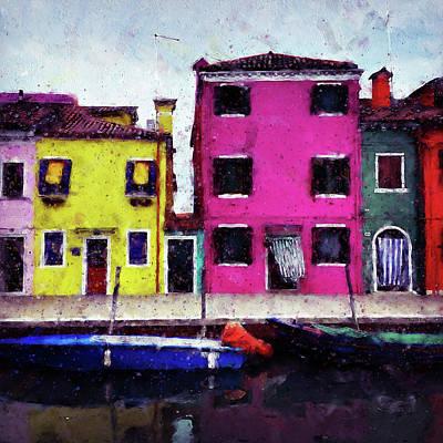 Painting - Burano, Italy - 03 by Andrea Mazzocchetti
