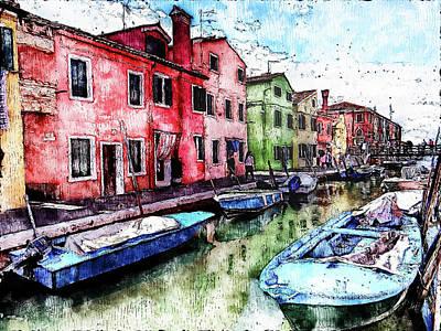 Painting - Burano, Italy - 04 by Andrea Mazzocchetti