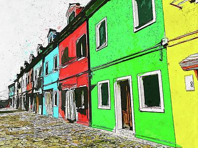 Painting - Burano, Italy - 05 by Andrea Mazzocchetti