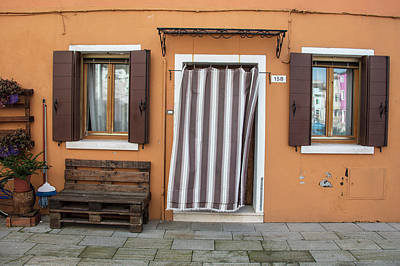 Photograph - Burano Italy Brown House by John McGraw