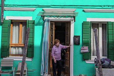 Photograph - Burano Italy Checking The Neighborhood  by John McGraw