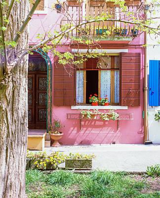 Photograph - Burano Italy House  by John McGraw