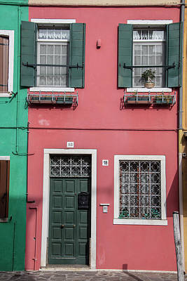 Photograph - Burano Italy House Red by John McGraw