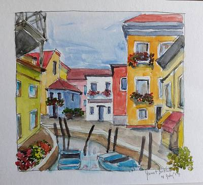 Painting - Burano, Italy by Janet Butler