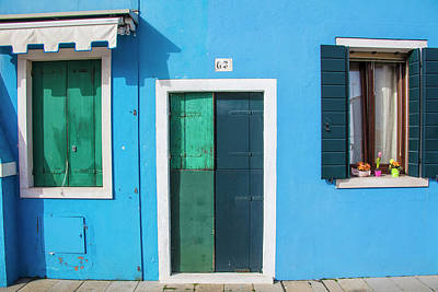 Photograph - Burano Italy Multi Color House by John McGraw