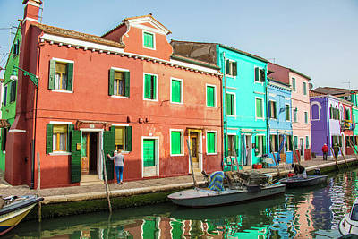Photograph - Burano Italy Reflection  by John McGraw